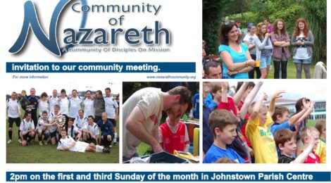 Invitation to our Community Gatherings  1st Sunday every month